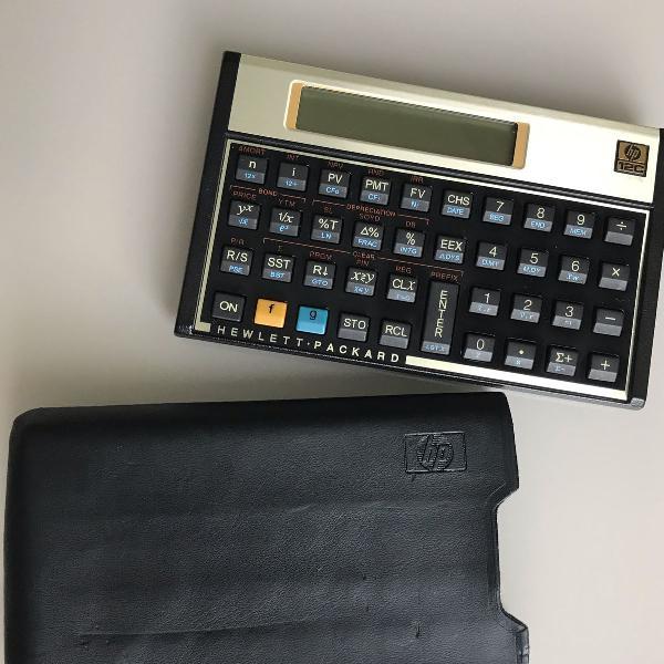 calculadora financeira hp 12c gold + capa