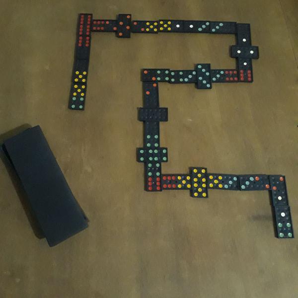 jogo de dominó completo 28 pçs
