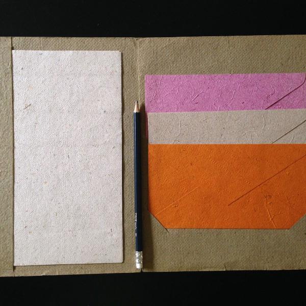 kit de envelopes e papeis de carta de papel feito à mão