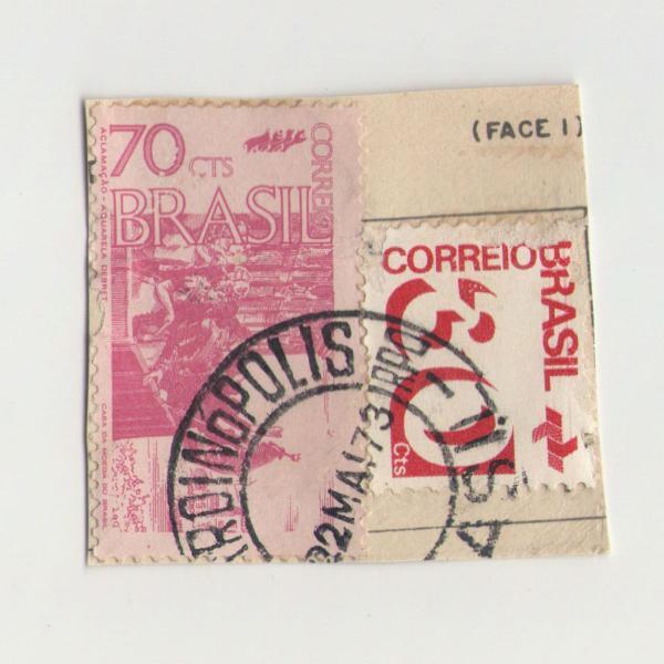 selos tipo cifra - 30 e aclamação dom pedro i carimbados