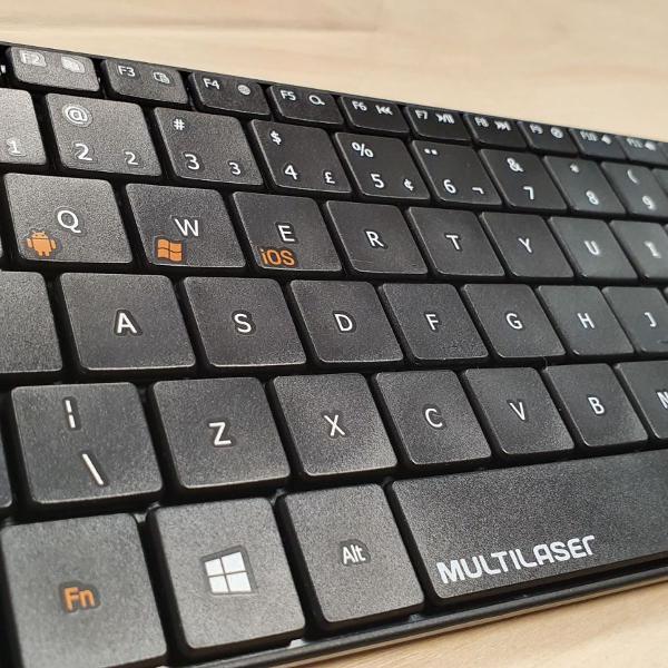 teclado multilaser 3 em 1 sem fio bluetooth preto - tc220