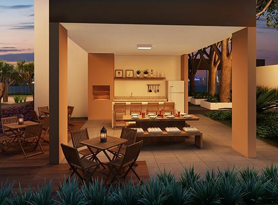 Apartamento com 2 dormitórios e 2 vagas de garagem fixas