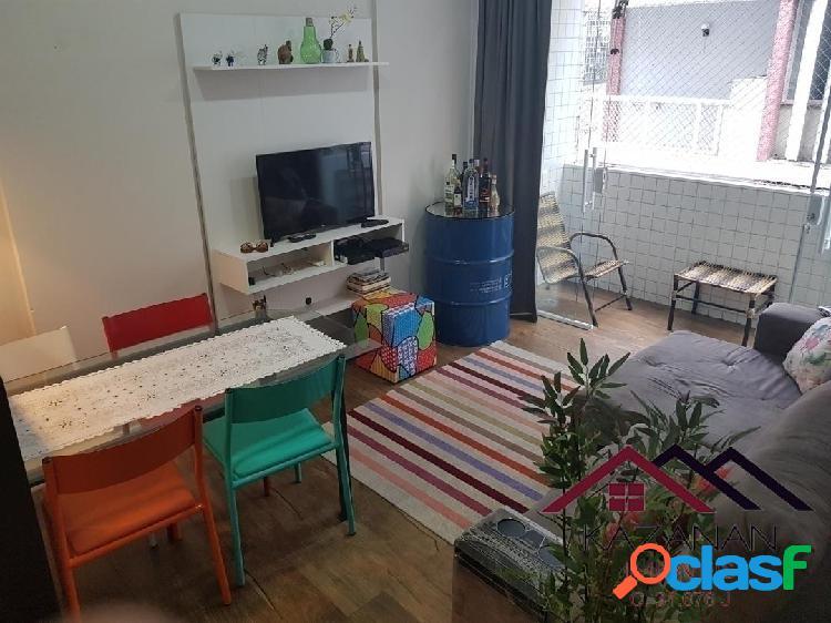 1 Dormitório no Gonzaga Santos com Sacada Reformado
