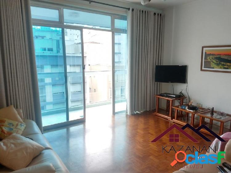 Apartamento 2 dormitórios no Gonzaga em Santos