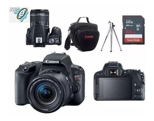Câmera Canon Sl2 C/ 18-55mm+bolsa+64gb+tripé