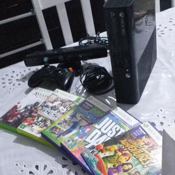 XBOX 360 (COM KINECT, CONTROLE E JOGOS)