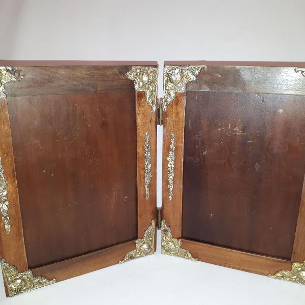 porta retrato antigo em madeira