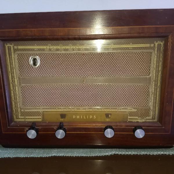 rádio philips valvulado br639 a 6 faixas déc 40
