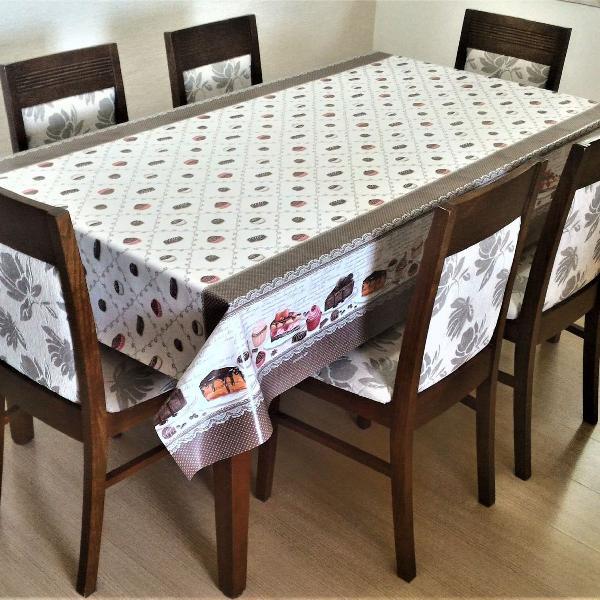 toalha de mesa térmica bolos 1.4 x 2.0m
