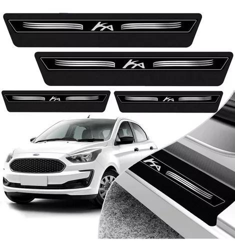 Kit 8 Peças Soleira Adesivo Porta Novo Ka Hatch Sedan 2015