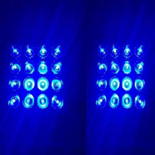 Par Farol Led Azul 16 Leds 48w Trilha Pulverizador Agricola