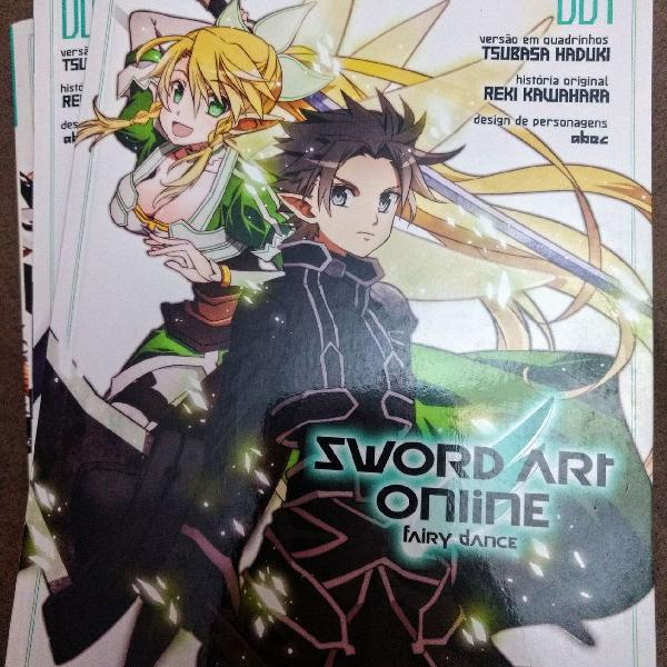 Sword Art Online Fairy Dance Coleção completa de mangás