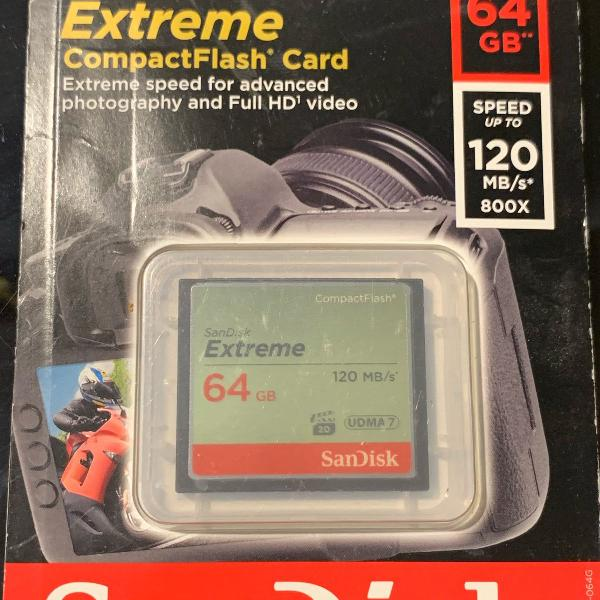 cartão de memória sandisk extreme
