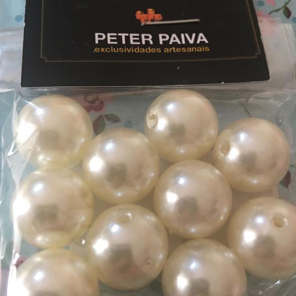 pingente de pérolas peter paiva pacote com 10 peças