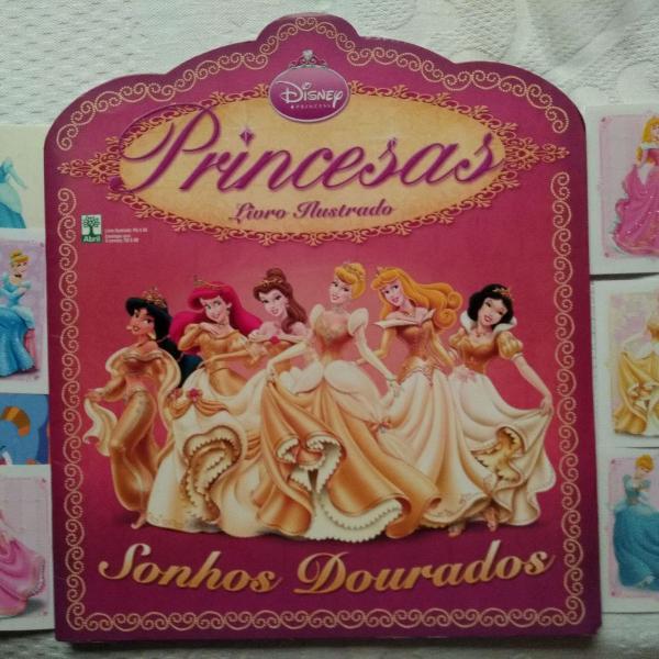 princesas disney sonhos dourados álbum figurinhas
