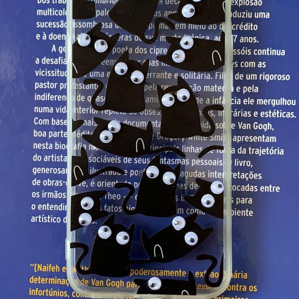 capa de gato preto para iPhone 7