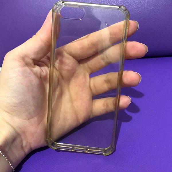 case iphone 5/5s anti-impacto transparente