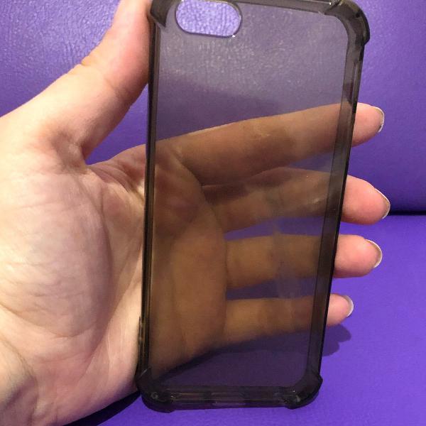 case iphone 5/5s transparente fumê