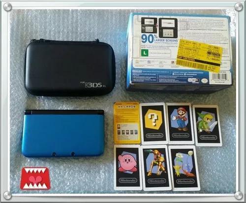 Console Impecável Completo Nintendo 3ds Xl Azul (c/ Nota)