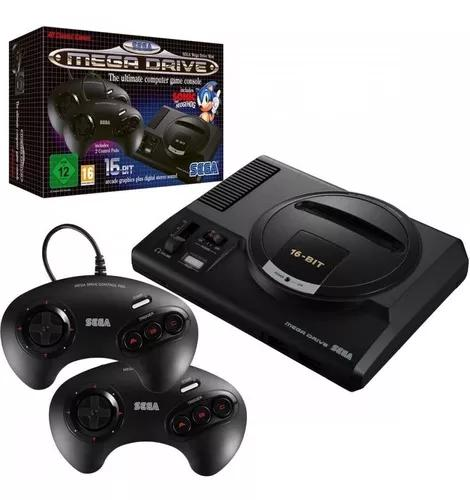 Console Sega Mega Drive Mini Game C/ 2 Controles E 42 Jogos