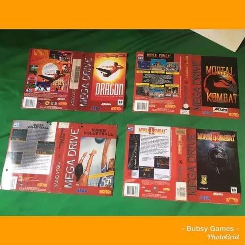 Encarte Mega Drive Tectoy Originais - Mortal Kombat....