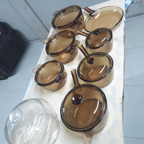 Jogo de panelas de vidro com 14 peças - vision