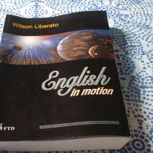 Livro english informações motiom volume unico