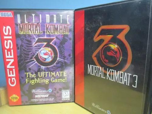 Lote Dois Jogos Mortal Kombat Para Mega Drive Preço R$85