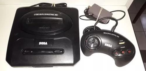 Mega Drive 3 Com 10 Jogos Na M