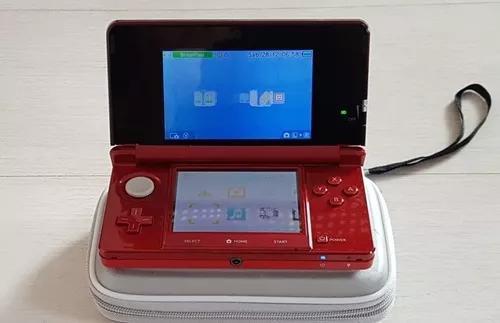 Nintendo 3ds Vermelho Com 5 Jogos