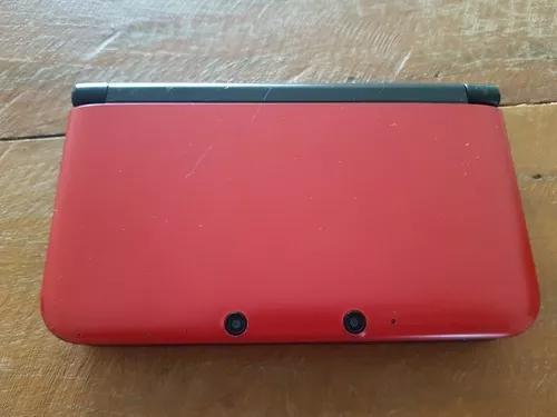 Nintendo 3ds Xl Usado Vermelho Com Capa Do Super Mario