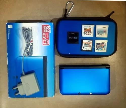 Oportunidade Nintendo 3ds Xl Azul + 4 Jogos Originais+ Case+