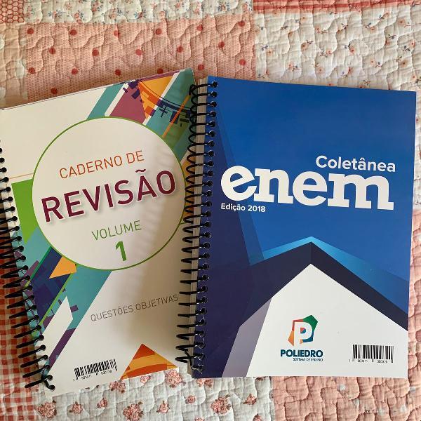 caderno de revisão volume 1 e coletânea enem 2018 poliedro
