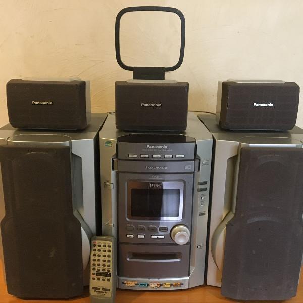 micro system panasonic c/ controle remoto