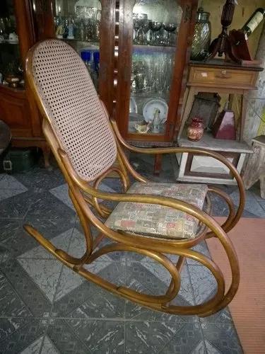 Cadeira De Balanço Antiga Austríaca