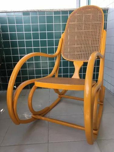 Cadeira De Balanço Antiga Thonet Original Vintage. Laqueada