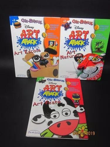Livro Coleção 3 Livros Crie-brinque Disney Art Attack...