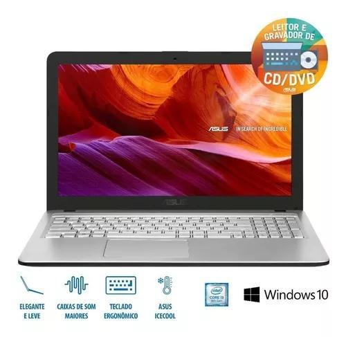 Notebook Asus Ci3 4gb 1000gb Windows 10 Tela 15 6 X543ua