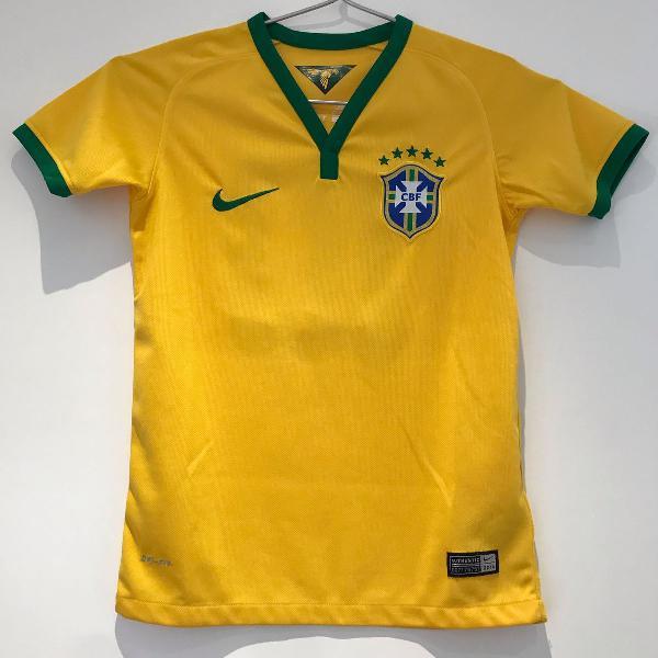 camiseta oficial seleção brasileira - infantil