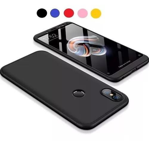 Capa 360 Fina Matte+pelicula Vidro Xiaomi Redmi Note 5 Pro