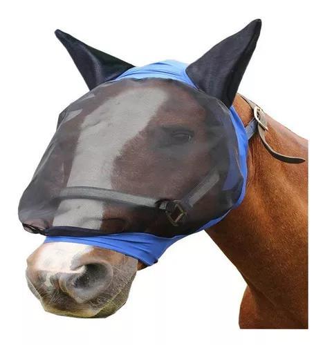 Capa De Orelha Máscara De Cavalo Fly Full Face Armour Malha