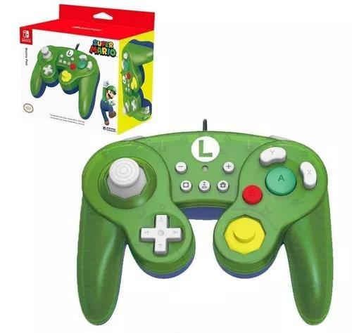 Controle Usb Gamecube Luig Super Mario Switch Wii U Hori