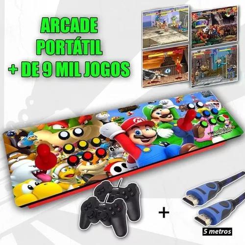 Fliperama Controle Arcade Portátil - Multijogos 9 Mil Jogos