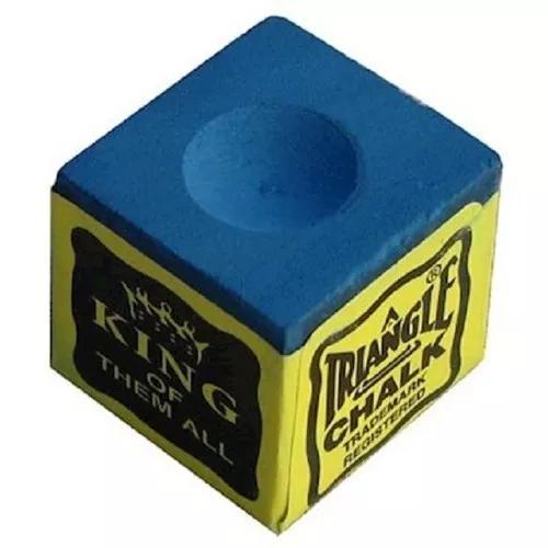 Giz Para Taco Sinuca / Bilhar Azul Caixa Com 12 Unidades