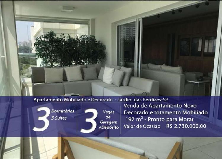 Venda de Apartamento Novo, Jardim das Perdizes-SP, mobiliado