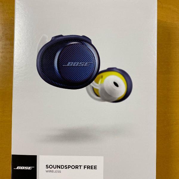 fone bose soundsport free - zero, na caixa e com nota