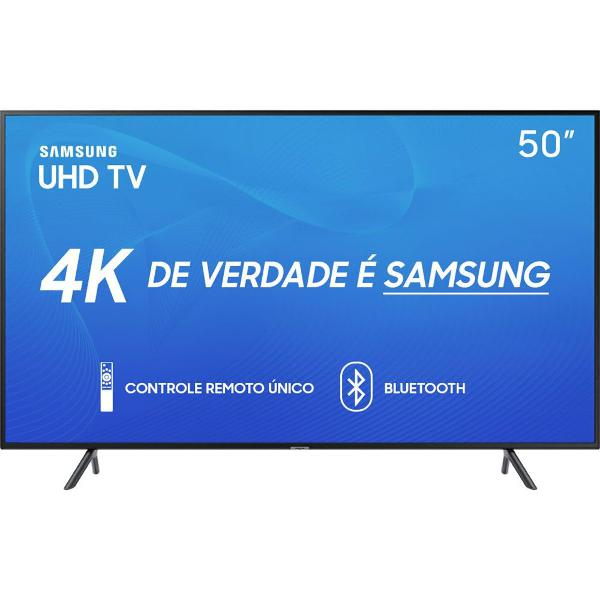 "smart tv led 50"" samsung 50ru7100 ultra hd 4k com conversor"
