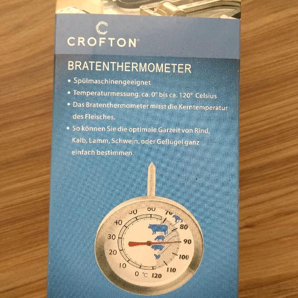 termômetro para carne em aço inox
