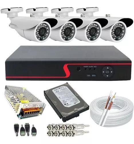 Kit 4 Câmeras De Segurança Ahd 1.3 Mp Infra + Dvr 4 Canais
