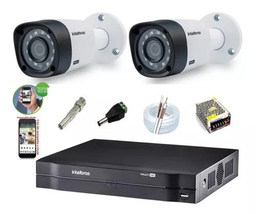 Kit Intelbras 2 Cam G4 Dvr 4ch Mhdx 1104 Multihd H.265